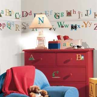 Set of New Alphabet Wall Stickers Kids Bedroom Toy Room Classroom Letters Decals