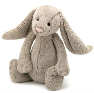 "Jellycat Bashful Bunny Rabbit Beige Medium Soft Plush Toy 12"" 31cm New"
