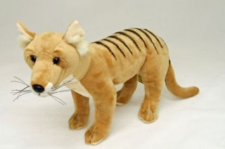 Tasmanian Tiger Thylacine Soft Toy Stuffed Animal Plush Toy 'Cooper' New