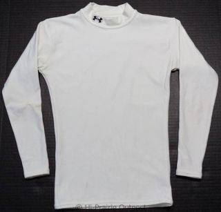 Under Armour Cold Gear Compression Mock Shirt Youth Kids Boys Size Medium 10 12