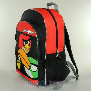 "Rovio Angry Birds Fuzzy 3 Birds 16"" Large Backpack Book Bag Boys Girls Kids"