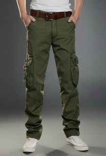 New Men's Fashion Casual Combat Pocket Cargo Long Loose Jeans Trousers Pants Hot