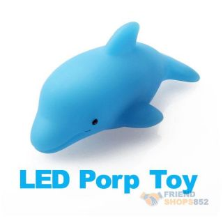 Dolphin Light LED Flashing Lamp Baby Kids Bath Toy F1