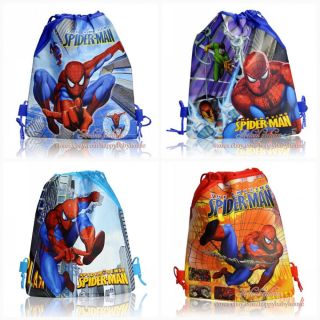 1pcs Spider Man Children Cartoon Drawstring Backpack School Tote Bag Party Favor