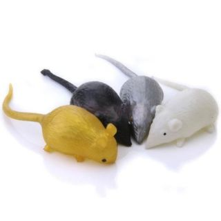 10x Squishy Rat Animal Mouse Novelty Halloween Trick Toy