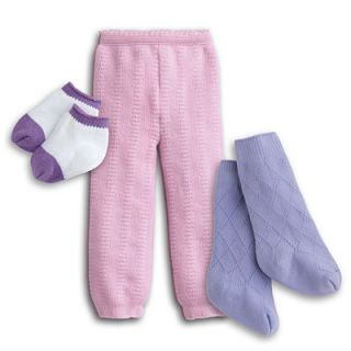 New American Girl Socks and Tights for Doll 3 Pairs BNIB