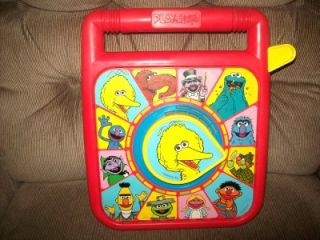 Vintage Playskool See 'N Say Type Sesame Street Muppets Big Bird Talking Toy '89
