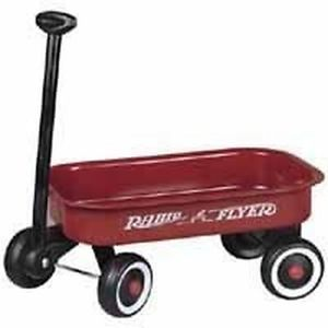 "New Radio Flyer 5 Metal 12"" Red Wagon Kid Toy Sale"