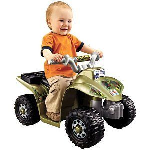 Toddler Power Wheels Camo 4 Wheeler Quad Kids Battery Camouflage Ride on ATV Toy