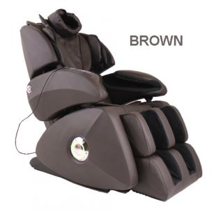 Osaki OS 7075R Brown Massage Chair Zero Gravity Heated Foot Roller Therapy