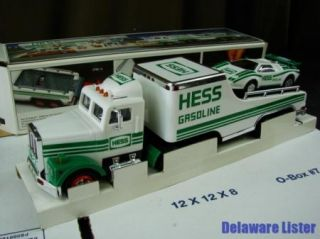 1991 Hess Gas Gasoline Toy Truck and Racer Car in Original Box New