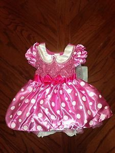 New  Pink Princess Minnie Mouse Costume Dress Gown Bloomers 3 6 M