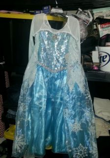 Brand New  Frozen Princess Elsa Costume Dress Gown Sold Out 5 6