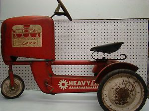 1950's All Metal Child's Flying Lark Heavy Duty Ride on Pedal Tractor Toy