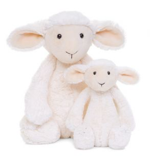 Jellycat Bashful Lamb Medium Stuffed Animal Plush New