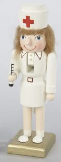 Kurt Adler Christmas Wood Hand Painted RARE Nurse RN Nutcracker J0741N