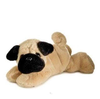 "Pug Toy Puppy Dog Plush Stuffed Animal 8"" Mini Pico Pup"
