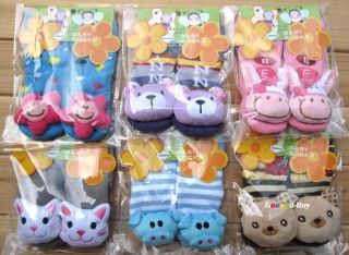 6 Pairs Unisex Cartoon Baby Kids Child Play Toy Socks