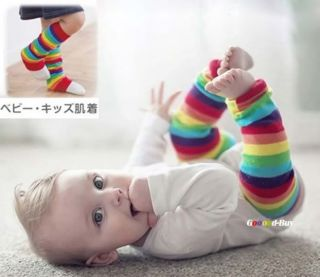 Cute Baby Girl Leg Protect Warm Leggings Rainbow Socks 30cm