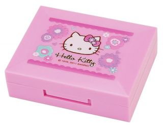 New Sanrio Hello Kitty Bloom Pink Contact Lens Case 2011