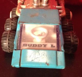 Vintage Metal Blue Buddy L Toy Space Car Very RARE