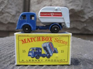 Lesney Matchbox 15c Tippax Refuse Truck w D2 Box EX