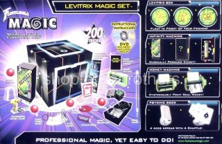 New Fantasma Magic Set Levitrix Show 200 Tricks Kids Toy Play Gift Set