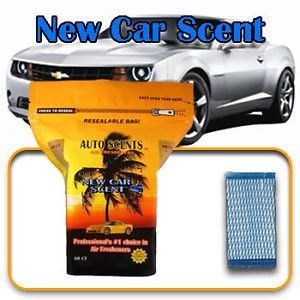 Home Office Auto Scent Air Freshner Wafer New Car 60QTY