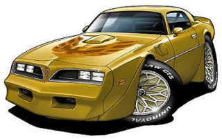 1978 Pontiac Trans Am 400 Turbo Fire Cartoon Car Wall Graphic Decal Home Decor