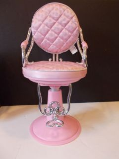 "Pink Hair Salon Chair Fits 18"" Girl Doll American Our Generation Battat Beauty 2"