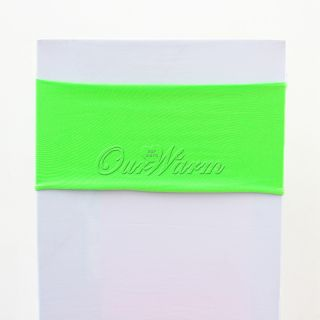 10 Green Lycra Stretch Chair Cover Bands Replace Chair Sash Wedding Party Decor