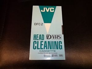 JVC DFC 2 Pro Cleaning Cassette VHS SVHS DVHS Camcorder Head Cleaner