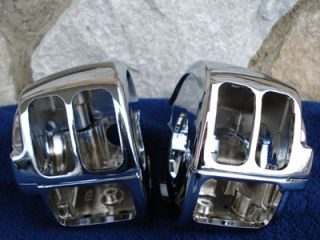 Chrome Handlebar Switch Housings Harley Road King 07 Up