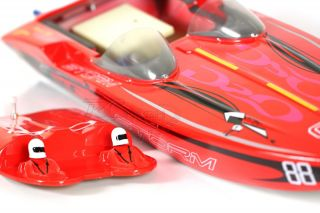 Vantex Fiberglass Electric Artr RC Brushless Mercury Storm 2 4GHz Jet Boat