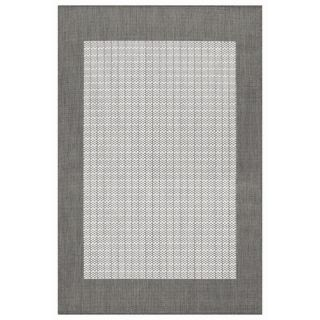 Couristan Recife Checkered Field Grey/White Rug