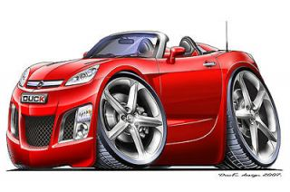 Saturn Sky Opel GT Turbo Fire Cartoon Car Graphic Wall Decal Home Decor New