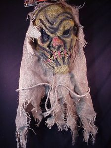 Scarecrow Horror Scary Mask Costume Halloween Accessory New