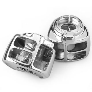 Chrome Switch Housings Cover for Harley Davidson Dyna Softail Sportster V Rod 06