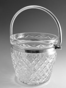 Waterford Crystal RARE Silver Plated Ice Bucket