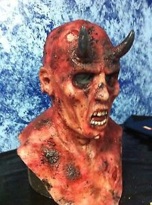 Devil Demon Minion Silicone Mask Halloween Horror Movie Style Mask