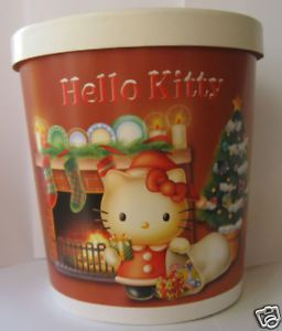 Sanrio Hello Kitty Christmas Ice Cream Cookie Bucket