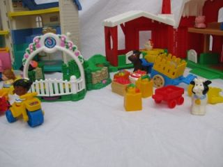 Fisher Price Little People Dollhouse Doll House Sounds Farm Barn Animals More
