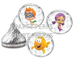 Bubble Guppies Birthday Party Candy Wrappers Stickers Favors Labels Fits Kisses