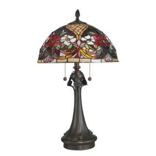 Dale Tiffany Rose Garden Tiffany 2 Light Table Lamp