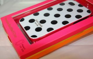 Kate Spade White Case with Black Large Dots Hardshell Case iPhone 4