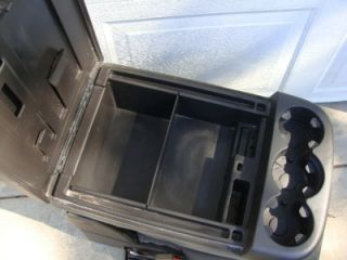 07 12 Chevy Silverado GMC Sierra Ebony Center Console Jump Seat with Key Storage