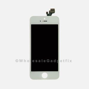 iPhone 5 Front Housing Panel LCD Display Touch Digitizer Screen Assembly White