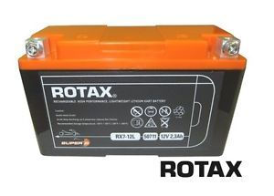 Go Kart Genuine Rotax Max Battery Lightweight Powerful Lithium Long Life