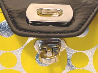 Yellow Circle Silver Clutch Wallet Removeable Checkbook Cover