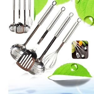 New 4 Piece Stainless Steel Kitchen Cooking Utensils Set Cookware Kitchen Tool